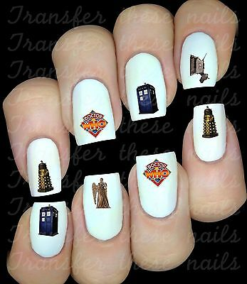 30 Autocollant Stickers ongles Dr Who nail art manucure déco water decal