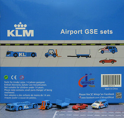 JC Wings 1/200 KLM Airport GSE Set 1 XX2021 miniature vehicles