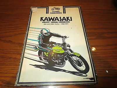 66-71 Kawasaki 250 & 350 TWINS Motorcycles CLYMER SERVICE REPAIR MANUAL SW41K