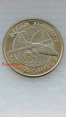 Rare-1992*unc*isle Of Man Bac 146-100 Jet £2 Two Pound Coin-Km#214