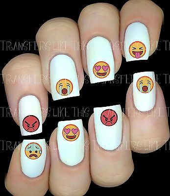 EMOJIS 30 Autocollant Stickers ongles nail art manucure water decal