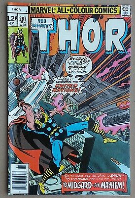 Marvel Comics - The Mighty Thor # 267, January 1978. Very good to excellent.
