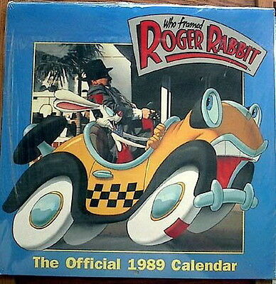 Original 1989 Roger Rabbit Movie Wall Calendar-Disney-SEALED!