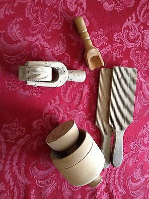 Vintage Treen Butter Pats
