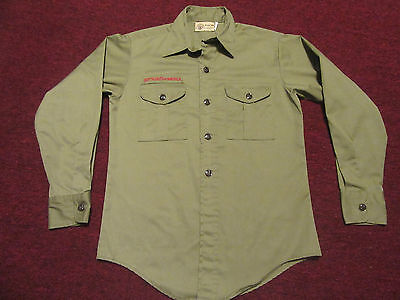 Cub Boy Scout Uniform Shirt Green Long Sleeve Youth S Small ? - no patches