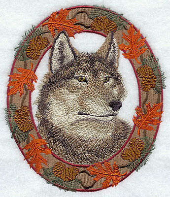 Embroidered Long-Sleeved T-Shirt - Autumn Wolf E7047 Sizes S - XXL