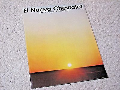 1977 Spanish Chevrolet Sales Brochure..