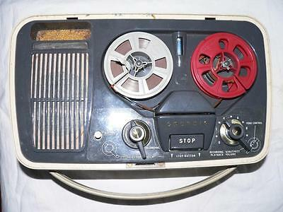 Vintage Portable Grundig Tk1 Reel To Reel Tape Recorder Player