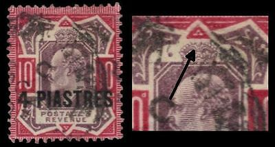 """BRITISH OFFICES in LEVANT 10i (SG10a) - Edward VII """"No Cross on Crown"""" (pf93196)"""