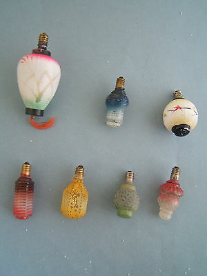 13 Vintage Christmas Bulbs LIGHTS LOT Figural Bubble Lighted Ice