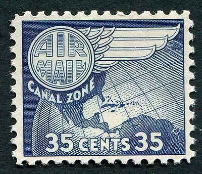 CANAL ZONE 1958 35c deep blue SG208 mint MNH FG AIRMAIL STAMP #W5