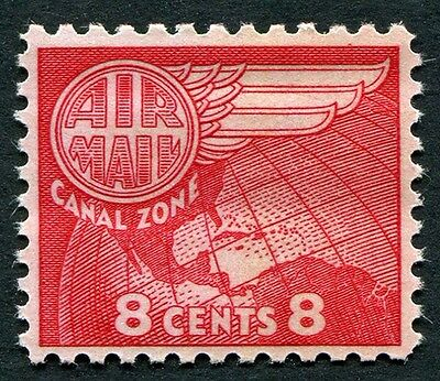 CANAL ZONE 1963 8c carmine-red SG210 mint MNH FG AIRMAIL STAMP #W5