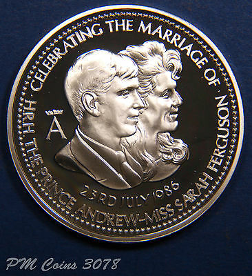 1986 Sterling Silver medals Royal wedding, Andrew & Fergie, silver 925 [3078]