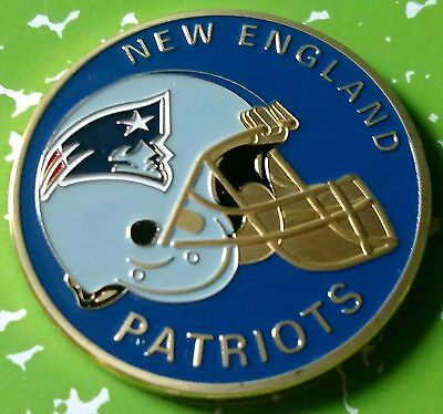 Nfl New England Patriots Football Team Colorized Gld Art Round