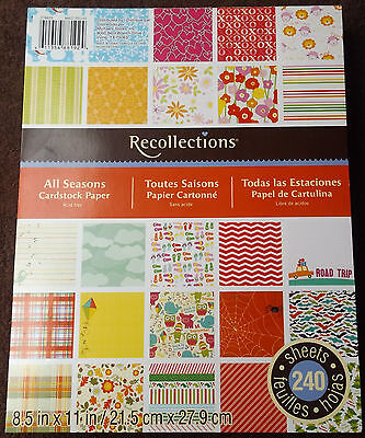 Recollections All Seasons Cardstock Paper Sheets Crafts Scrapbook