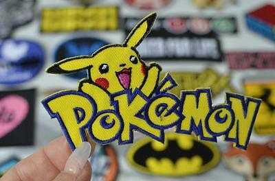 POKEMON PLAY PIKACHU Video Gamer Game Yellow Comic Iron on Patch Patches Badge
