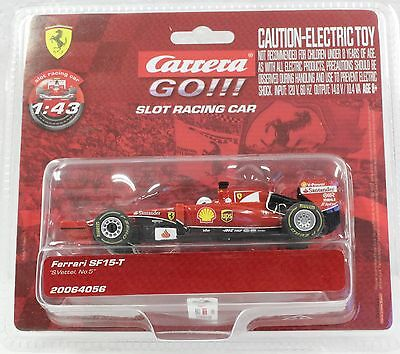Carrera Go 64056 Ferrari Sf15-T S. Vettel, #5 New 1/43 Slot Car