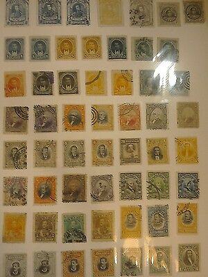50+ Stamps From Ecuador.Various Presidents etc Dating from pre 1900's