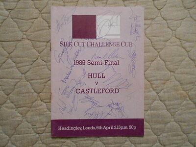 Hull V Castleford Rugby League Cup Semi Final Signed Match Programme 1985
