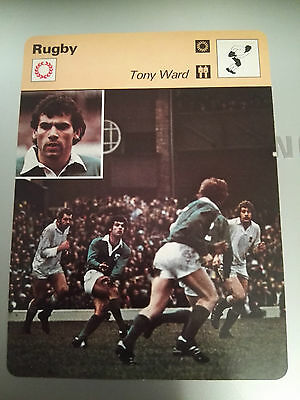 RUGBY UNION - TONY WARD / IRELAND v ENGLAND - Sportscaster Photo Card