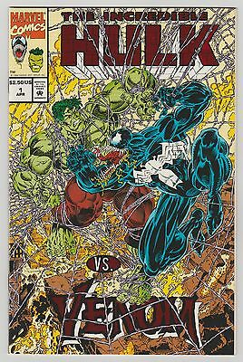The Incredible Hulk Vs. Venom #1 Embossed Mail Away   Variant Nm Hard To Find