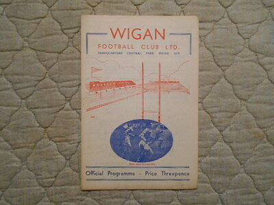 Wigan V Wakefield Rugby League Match Programme 1955