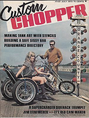 Custom Chopper Motorcycle Magazine JULY 1972 JUL