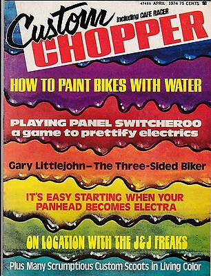 Custom Chopper Motorcycle Magazine APRIL 1974 APR