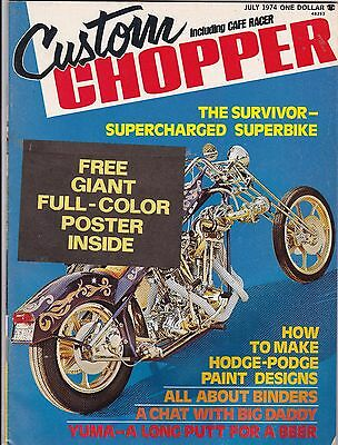 Custom Chopper Motorcycle Magazine JULY 1974 JUL