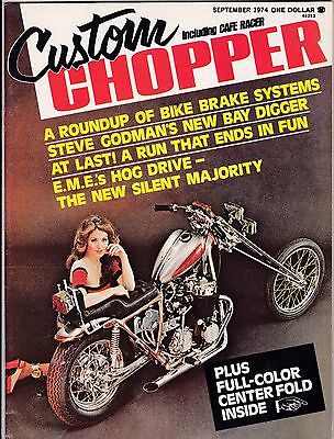 Custom Chopper Motorcycle Magazine SEPTEMBER 1974 SEPT