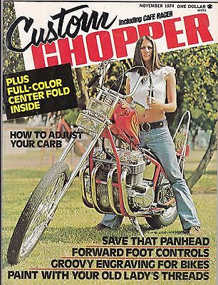 Custom Chopper Motorcycle Magazine NOVEMBER 1974 NOV