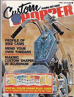 Custom Chopper Motorcycle Magazine APRIL 1975 APR