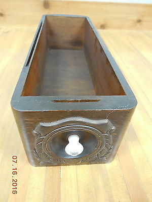 Old Vintage Wood Sewing Machine Drawer - Estate Find