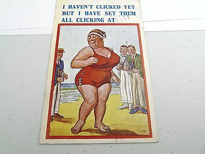 Vintage I Haven't Clicked Yet Risque Xl Series London 709A Humour Card Postcard