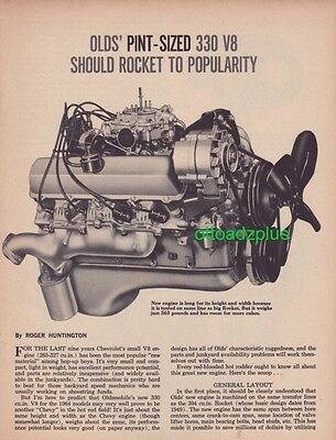 1964 Oldsmobile 330 V8 - Technical article - 5 page - great information + pics!