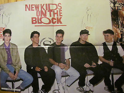 New Kids on the Block, Madonna, Double Four Page Vintage Foldout Poster