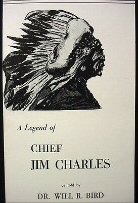 Ked-ge Lodge Kedgemakooge NS Will R Bird Extract Pamphlet Chief Jim Charles