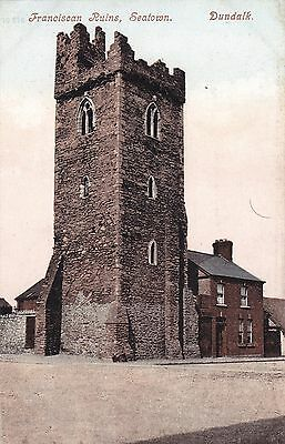 d irish postcard ireland louth franciscan ruins dundalk