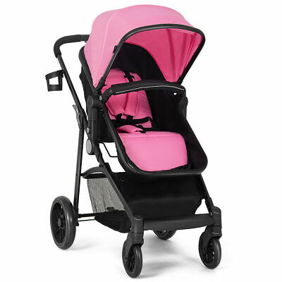 2 In1 Foldable Baby Stroller Kids Travel Newborn Infant Buggy Pushchair Pink