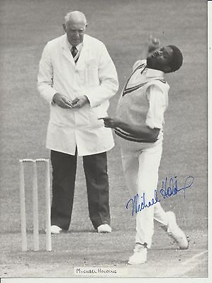Michael Holding Derbyshire and West Indies signed 15x20cms press photo 1983