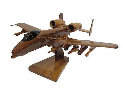 USAF Fairchild Republic A-10 Warthog Thunderbolt II Wooden Wood Replica Model