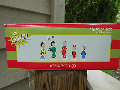 DEPT 56 GRINCH VILLAGE Accessory A FAMILY OF WHO'S NIB