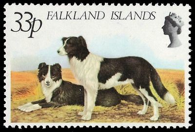 "FALKLAND ISLANDS 317 (SG395) - Farm Animals ""Welsh Collies"" (pa78381)"