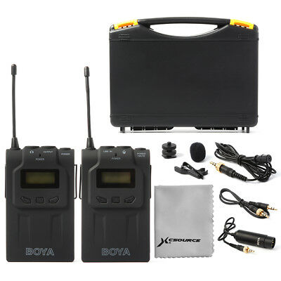 BOYA BY-WM6 Lavalier Clip Mic UHF Wireless Microphone System For DSLR Cam LF731