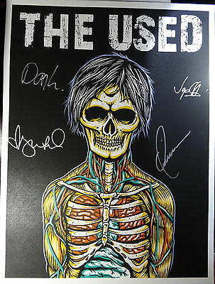 Signed The Used Autographed Rare Screened Litho Poster By All Nice!