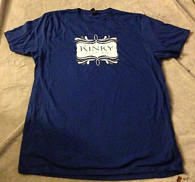 Kinky Vodka Blue XL T-Shirt Alcohol Promo Advertising Ad NWOT