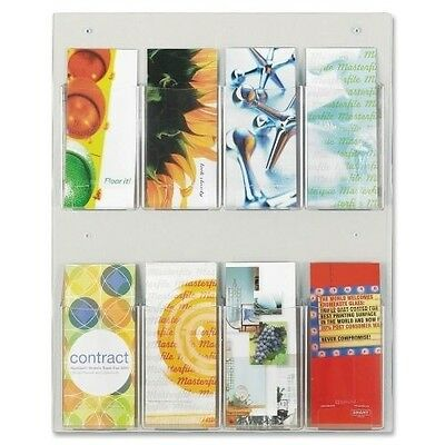 Safco Clear2c 8 Pamphlet Display 5673CL