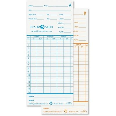 Pyramid Time Systems Time Cards For Models 2600 & 2650 42415