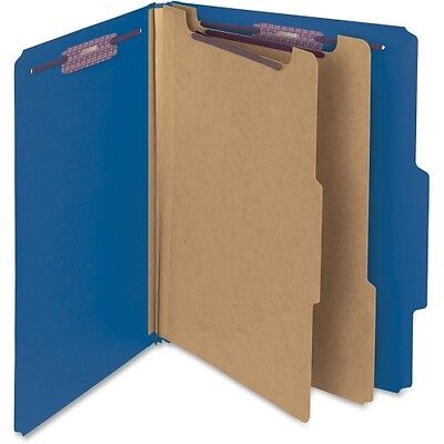 Smead 14032 Dark Blue Colored Pressboard Classification Folders with Safe 14032