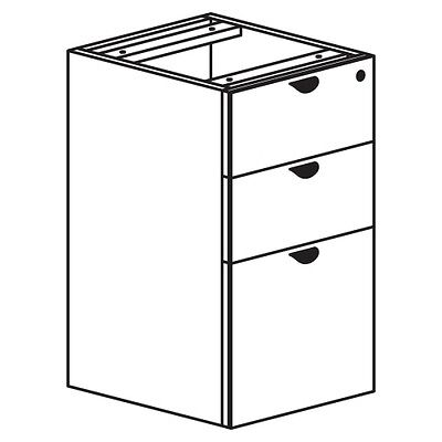 Heartwood Innovations Box/Box/File Pedestal INVFPUFEZ